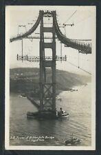 CA San Francisco RPPC c.1936 GOLDEN GATE BRIDGE TOWER CONSTRUCTION by Piggot