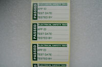 100 PAT TEST LABELS PORTABLE APPLIANCE TEST PASSED STICKERS 50mm x 25mm