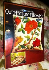 MH 1981 Sew-Easy Quilt Picture ORANGE ROSE PILLOW KIT No. QP 1403