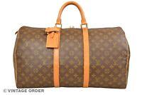 Louis Vuitton Monogram Keepall 50 Travel Bag M41426 - YG00766