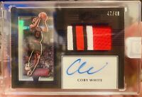 🔥 🚨 2019/20 Panini One And One Coby White RPA 47/49!! Bulls!! Bulging Patch!!