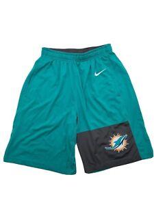 Nike Drifit Size Small Miami Dolphins Turquoise Shorts