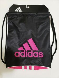 ADIDAS - Alliance II Drawstring Backpack / Sackpack - Pink / Black