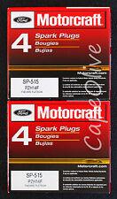8 PCS – Motorcraft SP-515 Spark Plugs (PZH14F) for Ford 5.4L 3V Updated Design