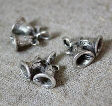 Antique silver charm pendentif cloches-pack de 20