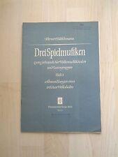 Noten Hübschmann Drei Spielmusiken Heft II, für Sopran-,Altblockflöte,Streichqu.