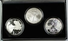 2006 American Silver Eagle 20th Anniversary Coin Set BU, Proof, Reverse Proof