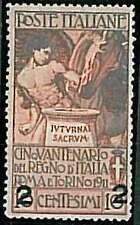 ITALIA REGNO - Varietà : Sassone 100b : CIFRE SPAZIATE - Nuovo Linguellato