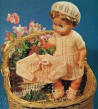 "Dolls clothes knitting pattern. 20"" doll. Laminated copy. (V Doll 143)"