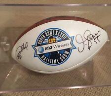 Authentic Junior Seau And Marshall Falk Autograph Football