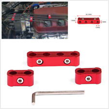 Red Aluminum Engine Spark Plug Wire Separator Divider Organizer Clamp Kit 10mm