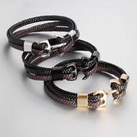 Sailor leather bracelet Anchor  w / Anchor 316L -=Premium Quality=-