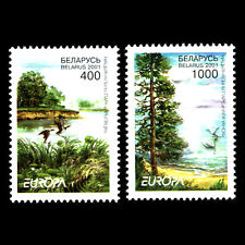 Belarus 2001 - EUROPA Stamps - Water, Treasure of Nature - Sc 388/9 MNH