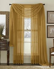 """Empire Home Sheer Voile Window Treatment Curtain Panel Drapes Solid 84"""" Long"""