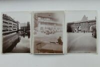 33203 3 Fotos Antiguas Nurenberg Casco Puente Muralla de la Ciudad Autocar 1910-