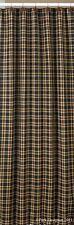 Country Cambridge Shower Curtain Black, Wine, Tan 72x72 Cotton