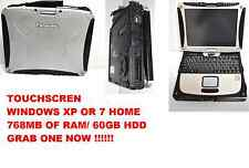 Panasonic Toughbook CF-18 MK2. TO MK5 1.10 MHz,60GB HD,NOTOUCH, WINDOWS XP PRO
