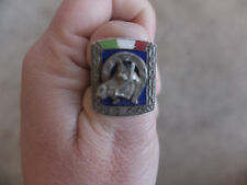 vintage 1940 Horse Head Shoe Mexican Mexico Biker Ring Sterling SIlver 8