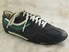 DIESEL Parandy Blue Green Leather Sport Sneaker Athletic Shoe Mens Size US 12