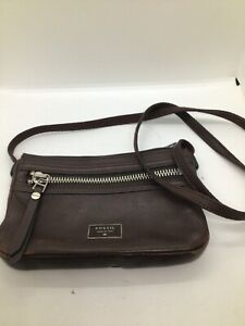 Fossil Crossbody Leather Bag Brown