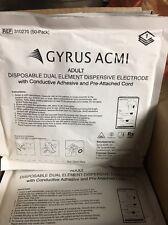25 X Gyrus Acmi Adult Disposable Dual Element Dispersive Electrode Ref# 310270
