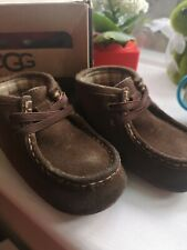 Baby Boys Brown Suede Ugg Boots Infant 4/5