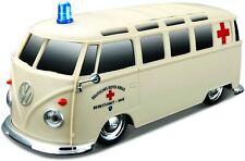 Rc VW T1 Samba Bus DRK avec Télécommande Miniature Auto 1 24 / Maisto