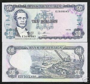 JAMAICA 10 DOLLARS P71 1994 x 100 Pcs BUNDLE BAUXITE MINE UNC CURRENCY PACK NOTE