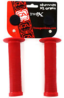 Free Agent BMX Shroom XL BMX Bike Grips, Red, 142mm