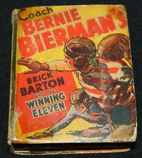 1938 Big Little Book Brick Barton and the Winning Eleven #1480 GD