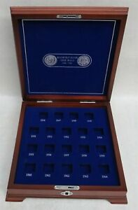 1946 - 1964 SILVER ROOSEVELT DIMES 10C ROLL WOOD DISPLAY BOX