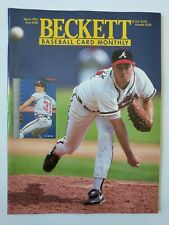 GREG MADDUX COVER BECKETT BASEBALL CARD GUIDE MARCH 1995 ISSUE #120