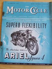 THE MOTORCYCLE MAGAZINE FEB 1951 GEAR RATIOS KNOCK PINKING AND PRE-IGNITION