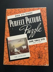 """Vintage 1940's Jigsaw Puzzle Perfect Picture  """"The Intruder """" WWII War Bonds"""