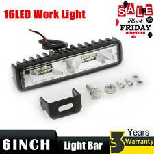 1pc 6INCH 100W 16LED Work Light Flood Beam Bar Car SUV OffRoad Driving Fogs Lamp