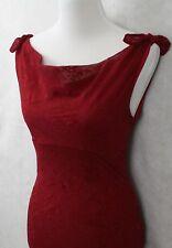Ruby Rox Stunning Red Chiffon Halter Cocktail Dress Juniors Floral SZ Small EUC