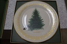 Lenox Christmas Tree Plate 1980 Brewer's Spruce w/ Box Exceptional Condition