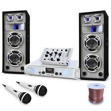 "DJ PA SYSTEM ""POLAR BEAR"" 1000W AMP SPEAKERS MIXER SET * FREE P&P SPECIAL OFFER"