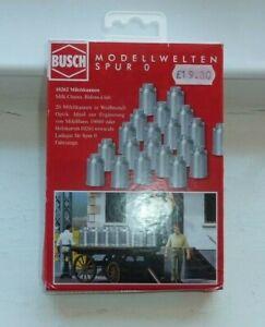 BOXED PACK OF BUSCH MILK CHURNS (0 GAUGE) 20 MILK CHURNS IN BOX