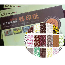 (50pcs/set) 10 Different Colors Designs Chocolate Transfer Sheet Paint Print mat