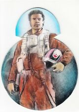 2017 Star Wars The Last Jedi BB-8 Die-Cut Sketch Card Poe Dameron by Huy Truong
