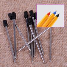 10X noire 7cm recharges stylo à bille métal pour stylo cristal 14cm type croisé