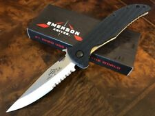 Emerson Knife Gentleman Jim SFS - Stonewash Serrated Edge - Prestige Dealer