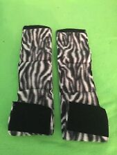 2-MALE DOG BELLY BANDS NO INSERTS LEAK PROOF  JUST ZEBRA PRINT WEAR