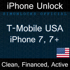 T-Mobile USA iPhone 7 7 Plus Factory Unlock Service Clean Financed Active