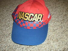 NASCAR red & blue snapback cap hat autoracing