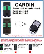 Cardin S476 TX2, S476 TX4, Control Remoto Duplicadora 4 canales 433.92MHz.