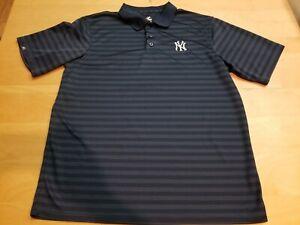 New York Yankees Golf Polo Shirt Men's XL Polyester Short Sleeve MLB Baseball