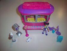 Polly Pocket 2003 Origin Producs Magnetic Hop & Shop Trolley + Doll & Add-Ons