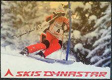 Skis Dynastar Poster. SIGNED by champion skier Fabienne Serrat